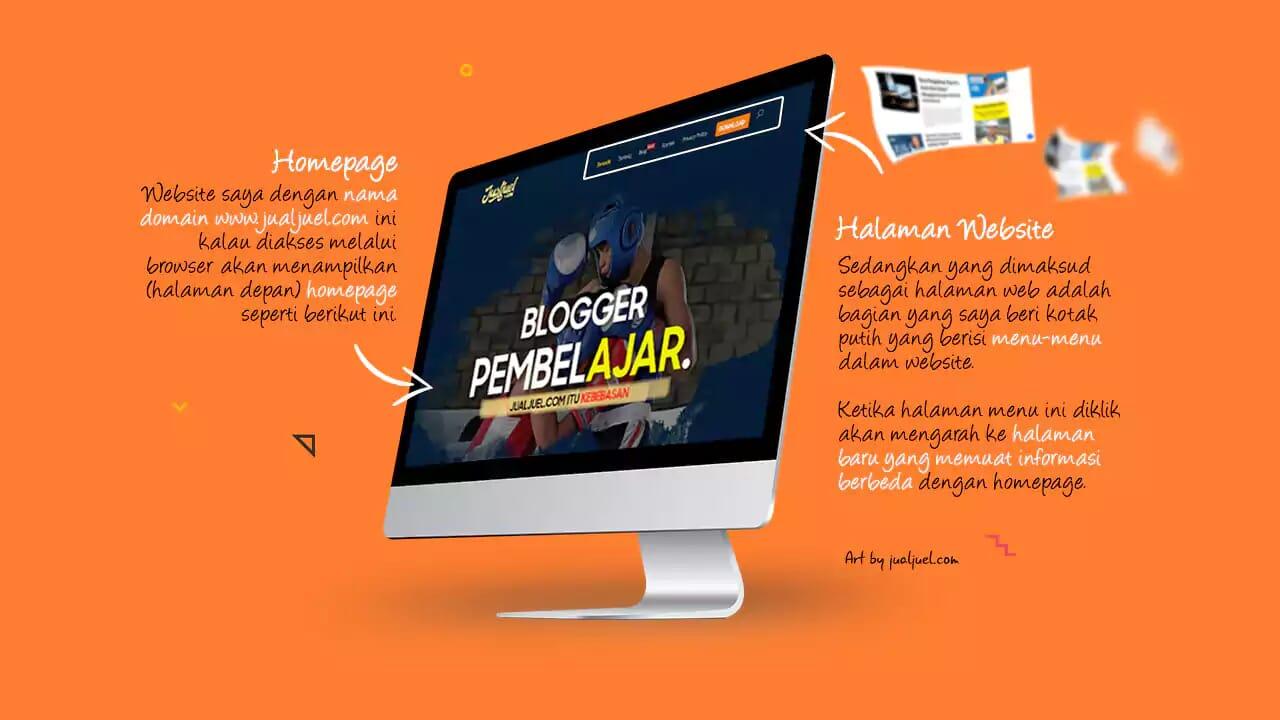 Ilustrasi Halaman Website